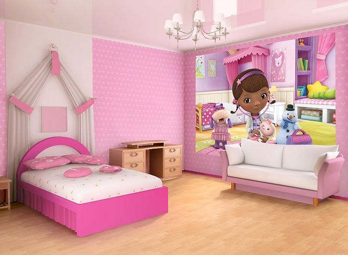 Doc Mcstuffins Kids Cartoon Photo Wall Bedroom Wall Murals